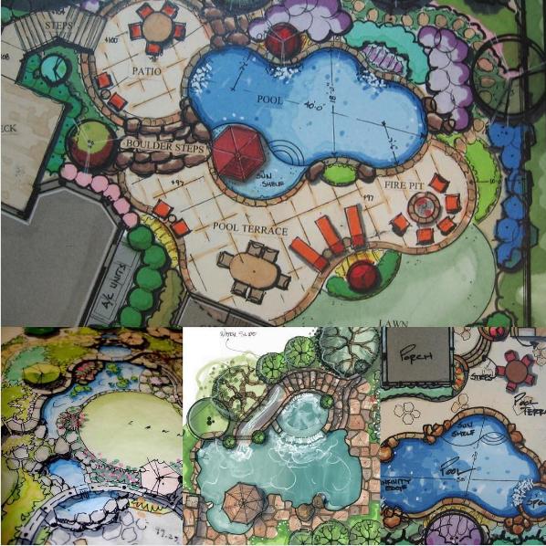 101 planos de casas 8 piscinas con un dise o natural for Planos de piscinas