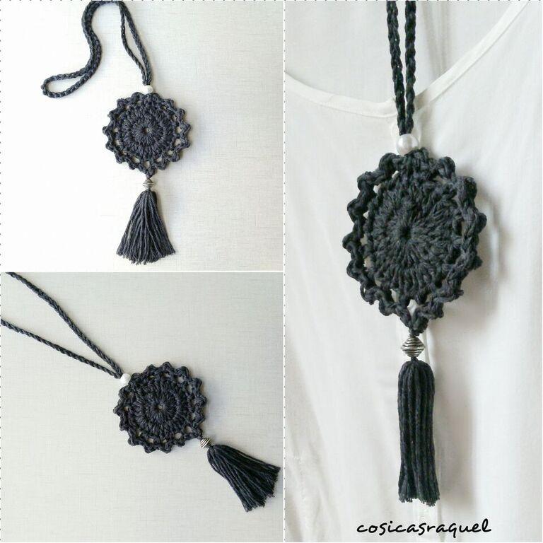 cosicasraquel: Colgante de Crochet