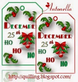 12 Days of Christmas Free Christmas Gift Tags from Antonella at www.quilling.blogspot.com #free #printable #Christmas