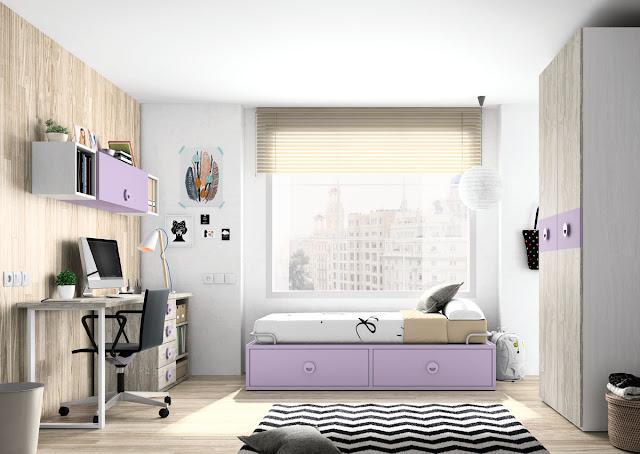 habitaciones infantiles violeta Valencia