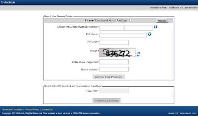Aadhaar Card Download Duplicate Copy Online