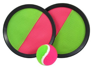 Use Velcro Mitt and ball to develop ball skills