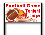 Football Game Yard Sign