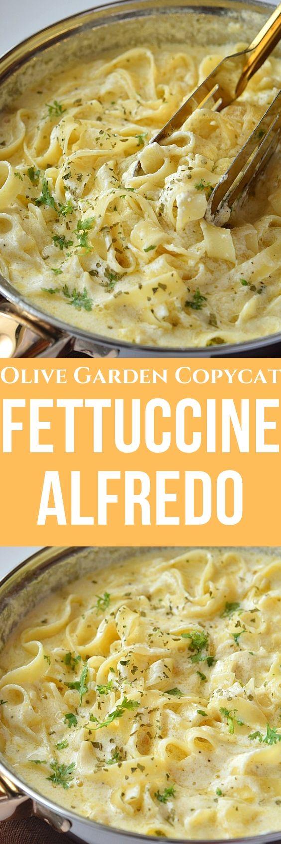 Fettuccine Alfredo (Olive Garden Copycat)