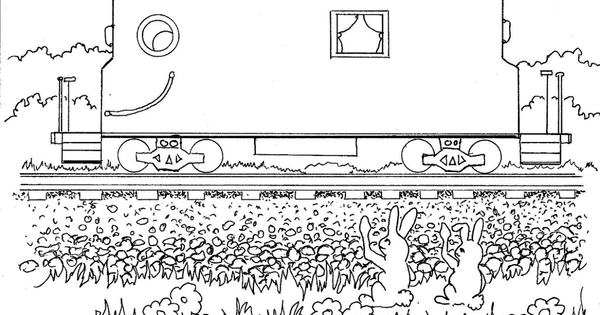 Coloring Pages for Kids by Mr. Adron: Caboose Kid's Print
