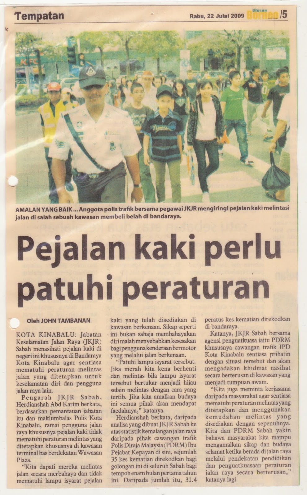Jabatan Keselamatan Jalan Raya Sabah: Keratan Akhbar dan Isu Terkini