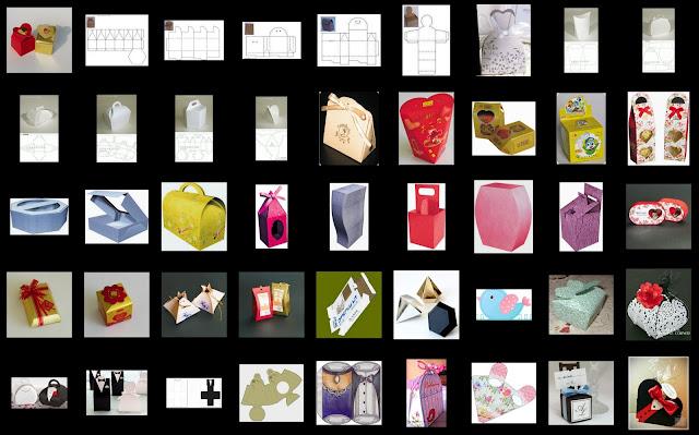 Templates for Quite Original Wedding Souvenir Boxes.