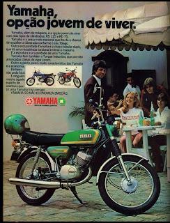 propaganda moto Yamaha - 1978. propaganda anos 70. propaganda carros anos 70. reclame anos 70. Oswaldo Hernandez.