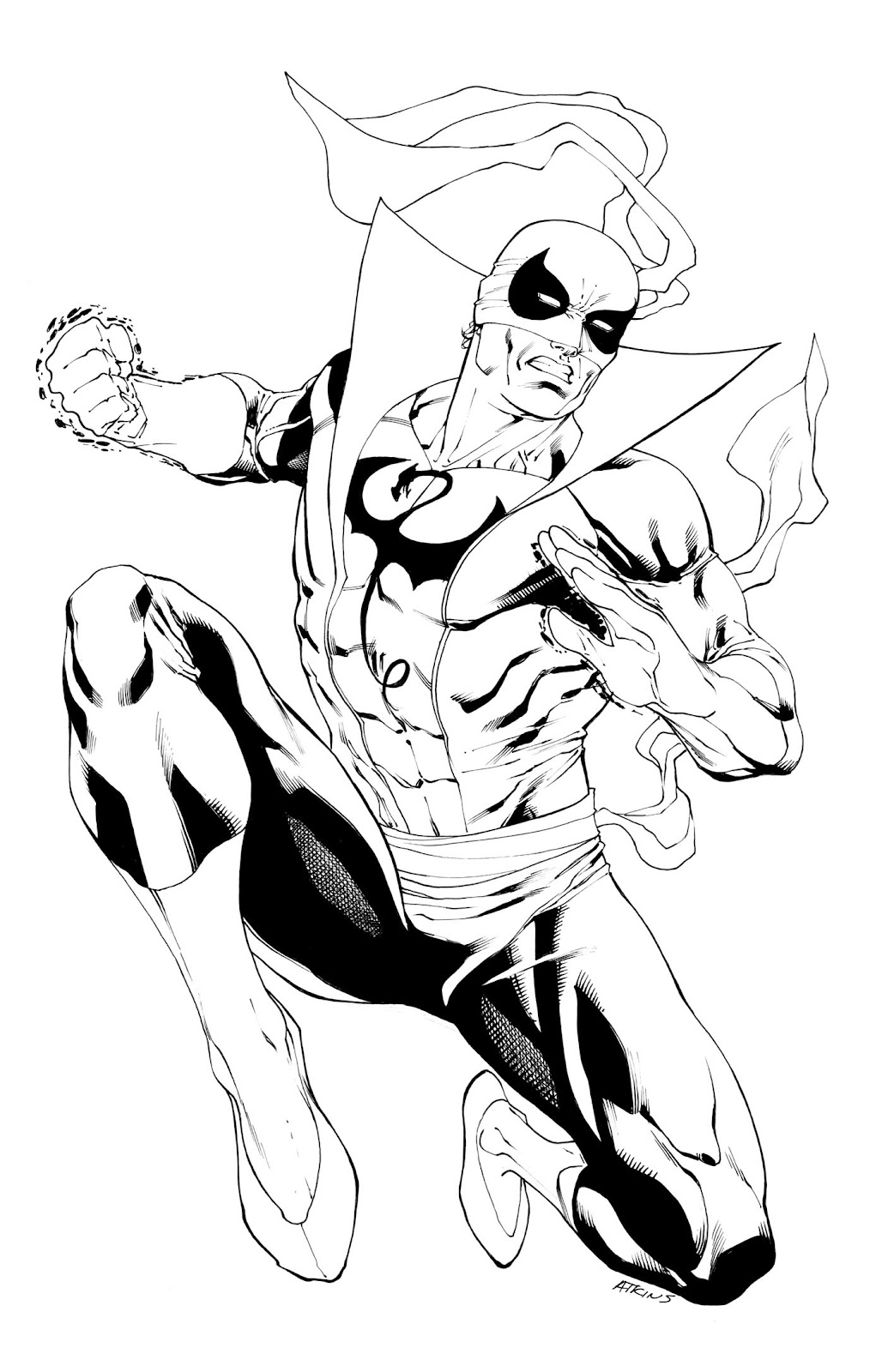 Robert Atkins Art Avengers Iron Fist