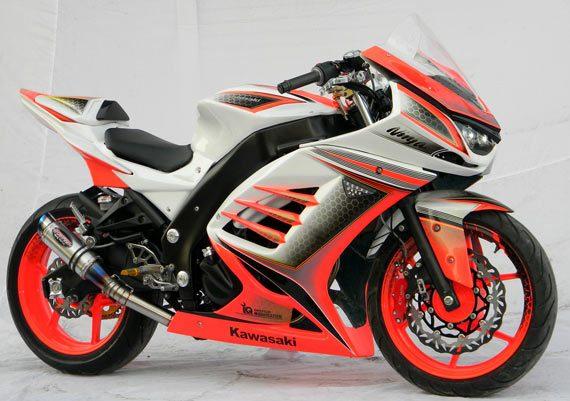 Cat body dari Ninja 250cc