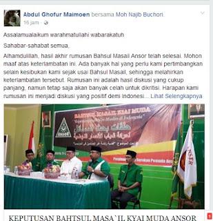 Penjelasan resmi Kiai Abdul Ghofur Maimoen
