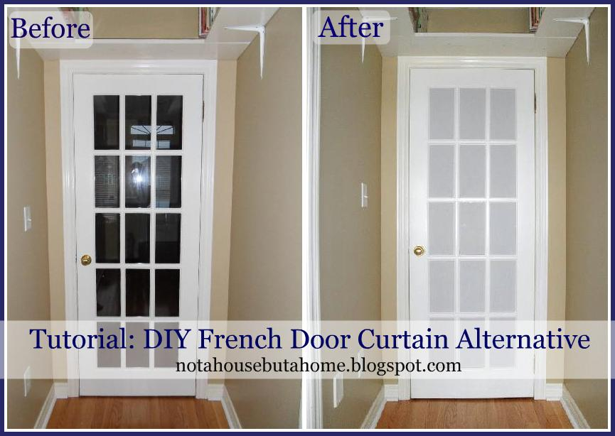 Not A House But Home Tutorial DIY French Door Curtain Alternative