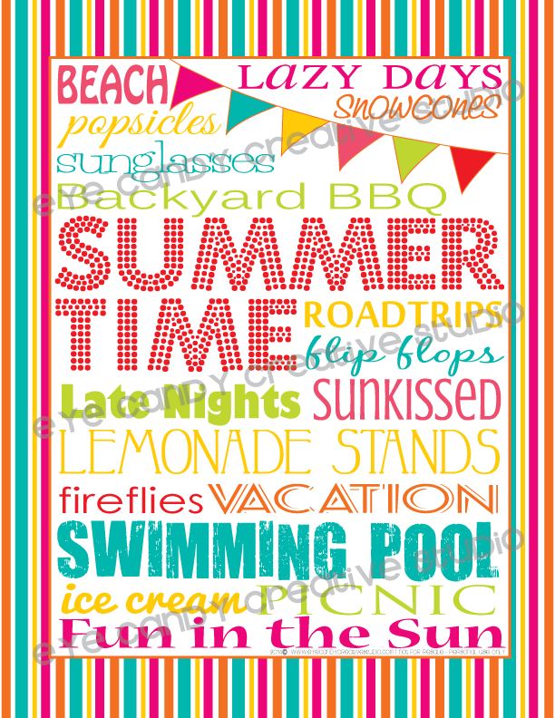 summertime, BBQ, vacation, lemonade stand, flip flops, summer framed art