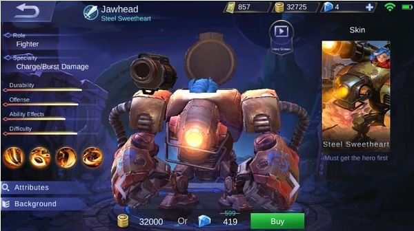 Jawhead di Mobile Legends