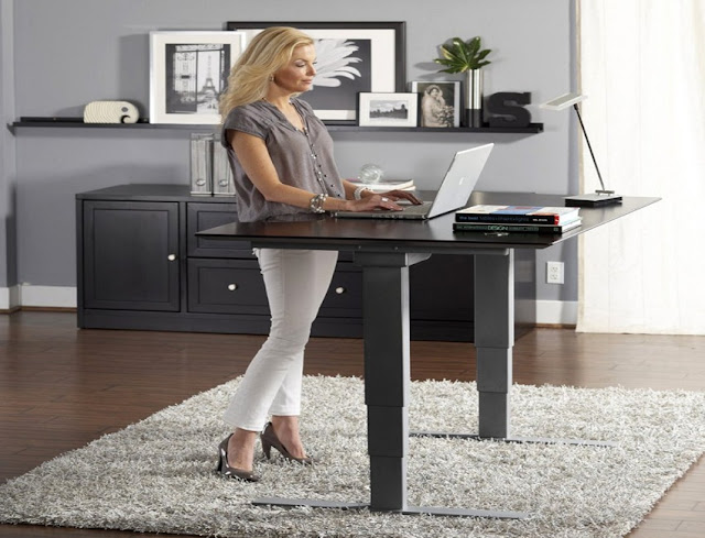 buying home office desk adjustable height for sale online