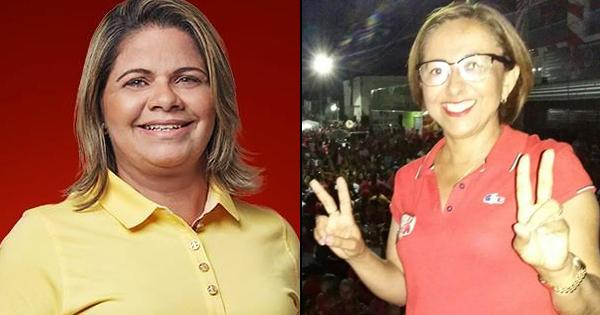 Resultado de imagem para vereadoras Ângela Aquino e Jumaria Mota Ceara Mirim