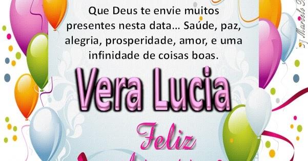 Feliz Aniversário 2018 Tia Lucia