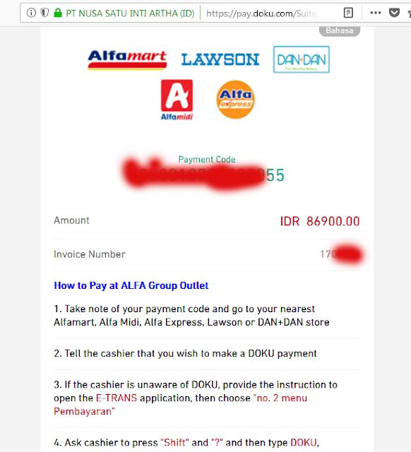 payment code alfamart