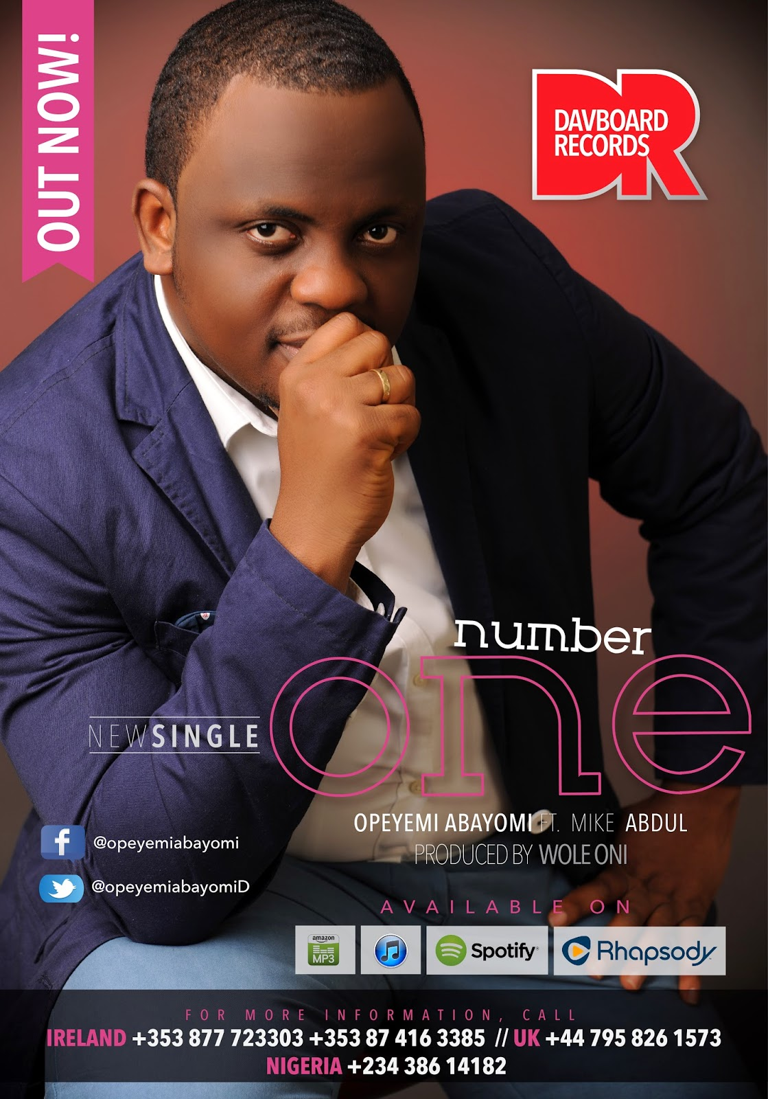 PREMIERE: OPEYEMI ABAYOMI - 'NUMBER ONE' FEAT  MIKE ABDUL (MIDNIGHT