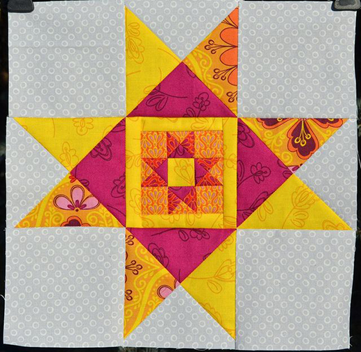 Ohio Star in Star Block Free Tutorial