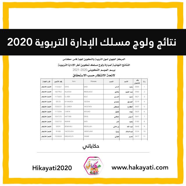 النتائج النهائية لمباراة ولوج مسلك تكوين أطر الإدارة التربوية 2020