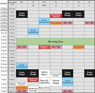 Downtuned Radio Weekly Schedule