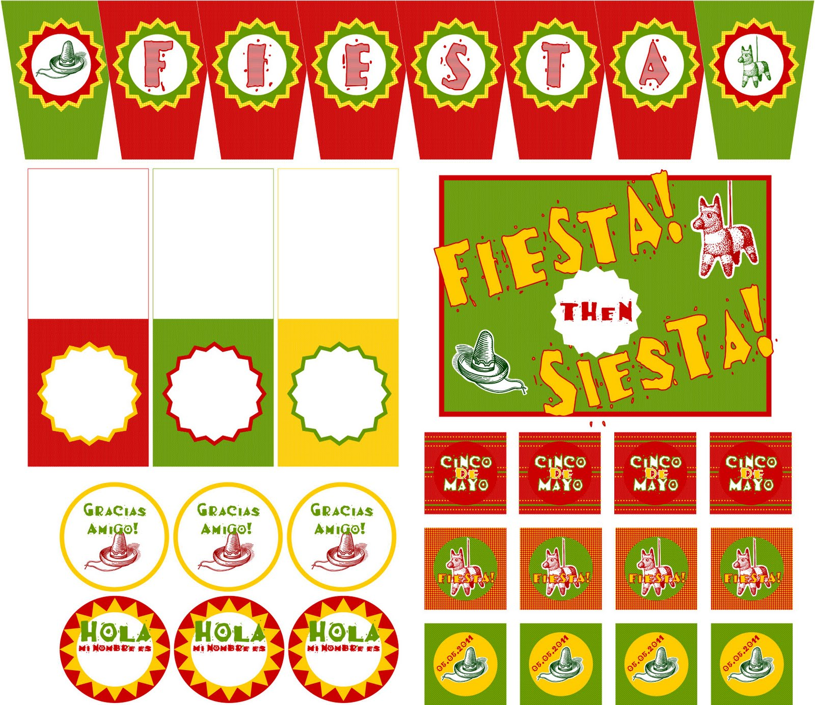 Embellish Free Printables Amp Tutorial Cinco De Mayo Fiesta