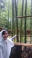 Pili tocando caña de Bambú