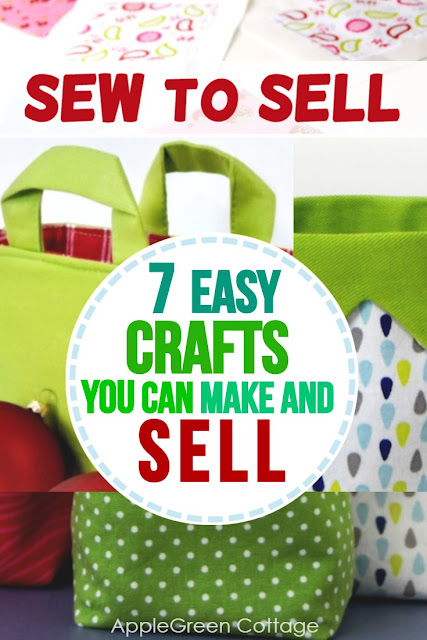 Crafts to make and sell - check out these 7 easy things to sew and sell.