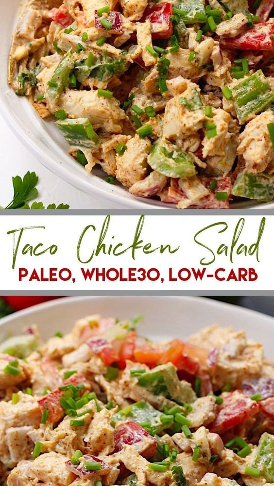 Taco Chicken Salad: Paleo, Whole30, Keto