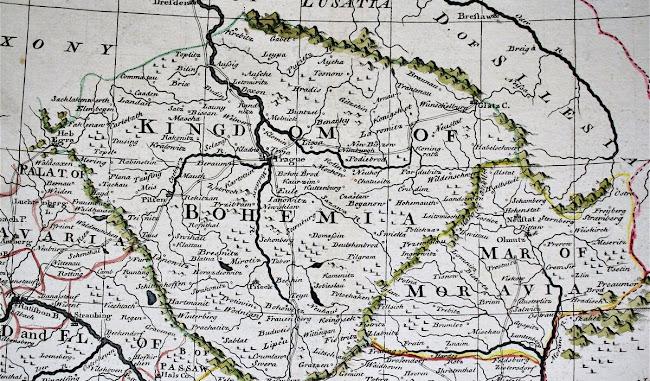 Emanuel Bowen - Bohemian Map 1743