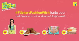 Flipkart Fashion Wish Contest: Get Rs.10000 worth Fashion Products for FREE @ Flipkart (Valid till 5th July'15)