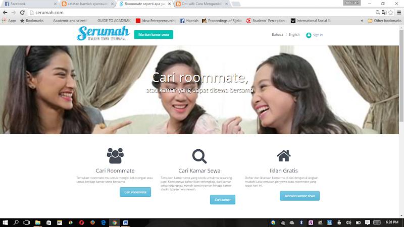 Mencari Teman di Serumah.Com