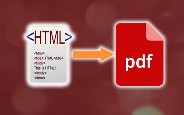 Convertir HTML a PDF