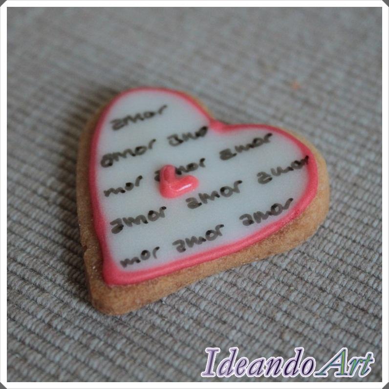 Galleta corazón amor