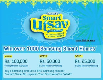 7343b561872 Samsung Smart Utsav Offers (Win Prizes in India)