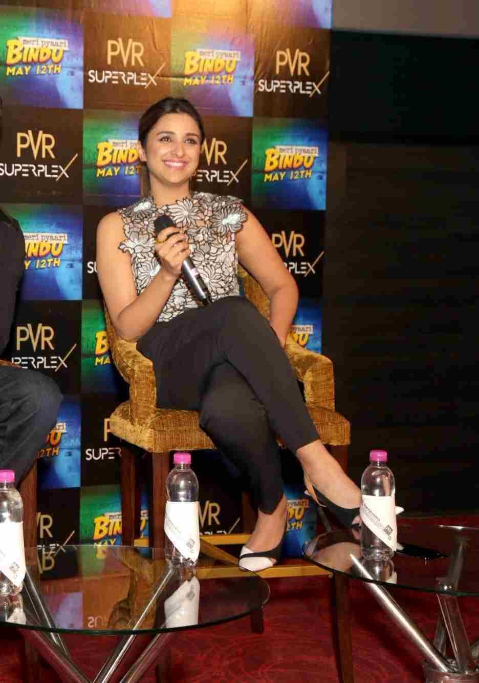 High Quality Bollywood Celebrity Pictures Parineeti Chopra Looks Sexy At Film Meri -5497