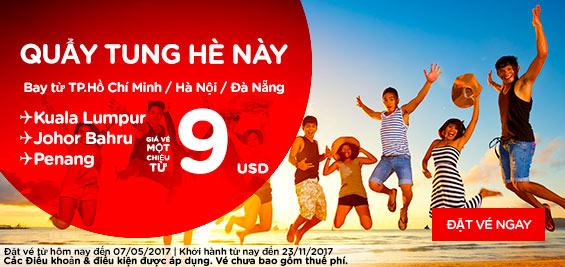 Air Asia khuyến mãi quẩy tung hè giá chỉ từ 9 usd