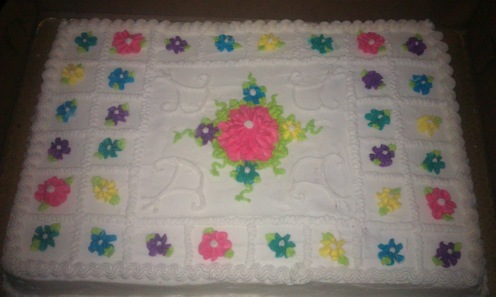 Cake Creations By Cia Wedding Reception Full Size Sheet Cake