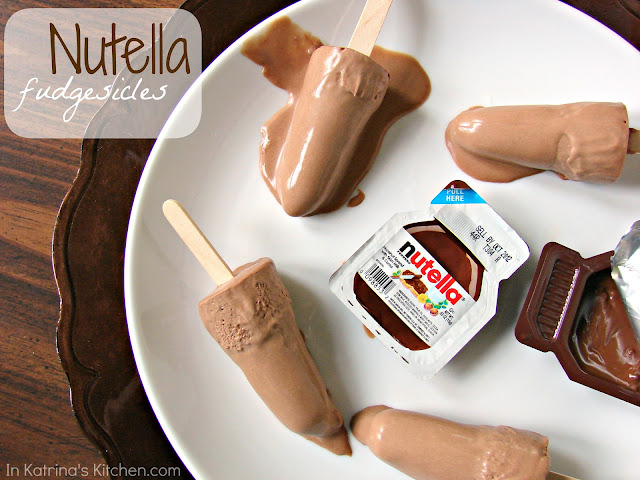 Nutellla Fudgesicles @KatrinasKitchen