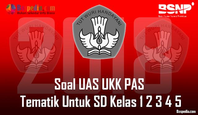 Lengkap - Soal UAS UKK PAS Tematik Untuk SD Kelas 1 2 3 4 5