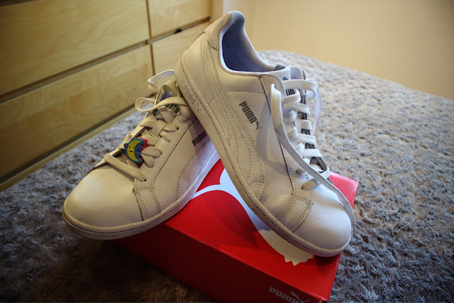 Puma Smash L, puma, sneakers, white, blanco
