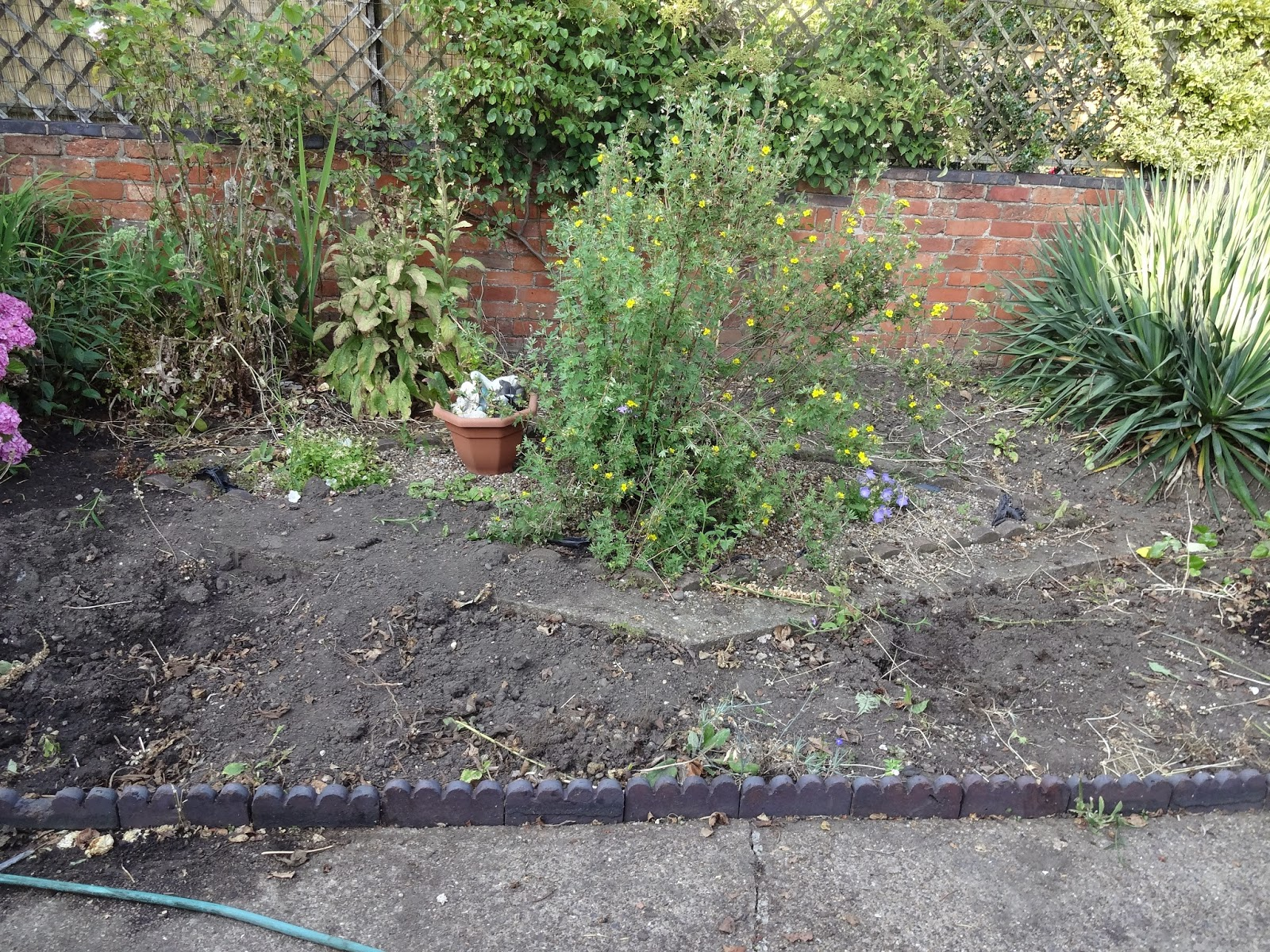 removing concrete in the garden