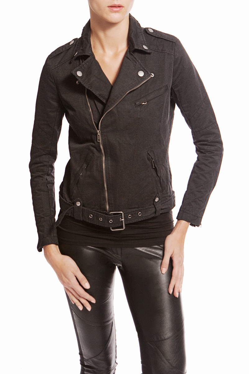 Madonna & Co - Twill Motorcycle Jacket | Kat Stays Polished