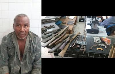 Em Chapadinha, PM desmancha fábrica clandestina e apreende 16 armas de fogo de uma só vez.