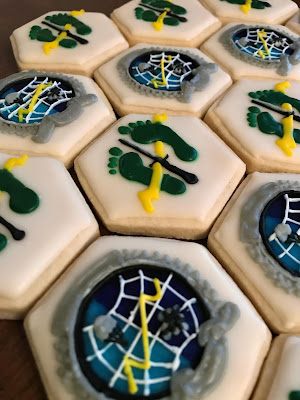 Combat Control Flash and Green Feet & Lightning Bold Cookies