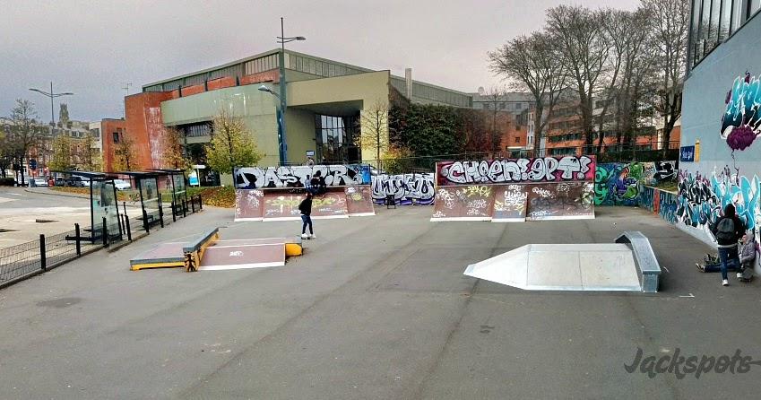 le skatepark d 39 arras dans le ch 39 nord jackspots. Black Bedroom Furniture Sets. Home Design Ideas