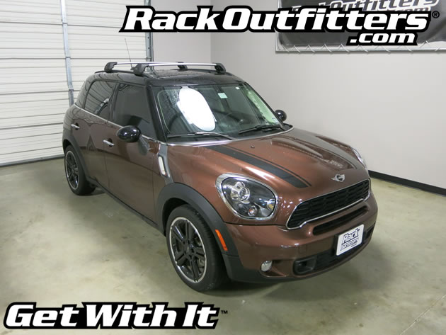 Mini Countryman Whispbar SILVER Flush Bar Base Roof Rack