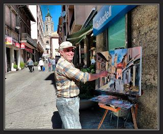 SANT HILARI SACALM-PINTURA-PAISATGES-ESGLESIA-CARRER JOSEP XIMENO-POBLES-LA SELVA-GIRONA-CATALUNYA-FOTOS-ARTISTA-PINTOR-ERNEST DESCALS-