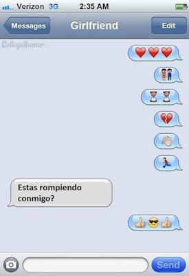 Cómo dejar a tu pareja por Whatsapp (Imagen de Humor)